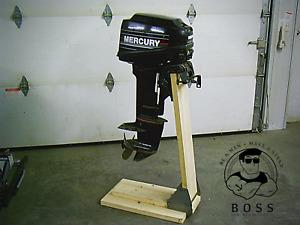 Boss Outboard Boat Motor Stand Bracket Cart Dolly Storage Heavy Duty
