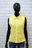 Camicia TOMMY HILFIGER Donna Taglia  L Maglia Busa Shirt Woman Cotone Giallo