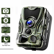 16MP Hunting Camera 1080P HD Video Wild Scouting IR Trail Cam 82FT Night Vision