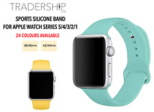 Replacement Silicone Sports Strap Band Apple Watch Series 1/2/3/4/5/6 38/4042/44