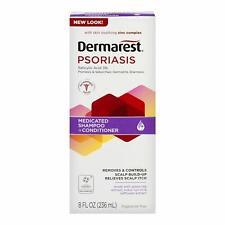 Dermarest Psoriasis Medicated Shampoo Plus Conditioner, 8.0 FL OZ NEW LOOK