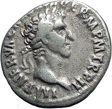 NERVA 98AD Rome Denarius Authentic Genuine Ancient Silver Roman Coin i63390