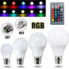 3/5/10/20W E27 B22 RGB 16 Color Changing LED Light Lamp Bulb + IR Remote Control