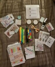 planner supply lot, new & used, planner addict, stickers, stamps, washi, & more