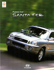 Hyundai Santa Fe 2001-02 South Korean Market Foldout Sales Brochure