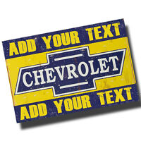 Personalized Vintage Chevrolet Garage 8x12 Inch Aluminum Sign