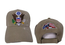 United States President Presidential Seal Tan Khaki Shadow Embroidered Cap Hat