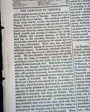 Rare Military Army & Navy Civil War Robert E. Lee Congrats Troops 1864 Newspaper