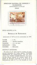Chile 1978 Brochure Batalla de Rancagua