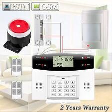 Wired Detector Sensor G2 PSTN GSM SMS Home Security Burglar Alarm System DIY Kit