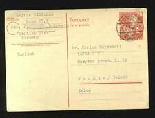 W. Germany postal card Mi. P2 (cat. 150 euros), sent to Poland