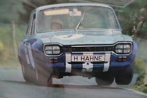 Vintage poster Hubert Hahne ford  Ford Escort MkI TC1600 #3 Hahne ADAC 1968
