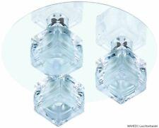 Deckenleuchte Deckenlampe Badlampe Badleuchte rund Glas Kristall BRILONER 3x G9