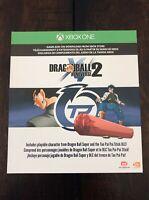 Dragon Ball Xenoverse 2: Day One Edition DLC Slip (No Game) Xbox One