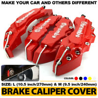 """4Pcs Red 3D Brake Caliper Covers Style Disc Universal Car Front Rear 10.5"""" CY2"""