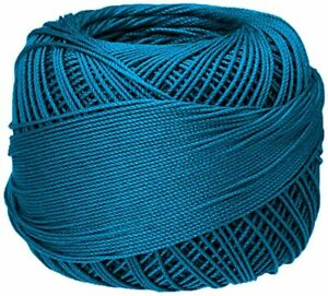 Lizbeth Premium Cotton Thread - Country Turquoise Med - Size 20 Crochet Knitting