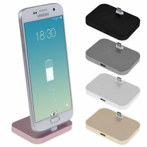 Alloy Micro USB Charging Dock Mount Stand Station Cradle For Android Phone AU