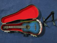 "1/6 Scale Blue Guitar with Case Hot Musical Instrument for 12"" Action figure"