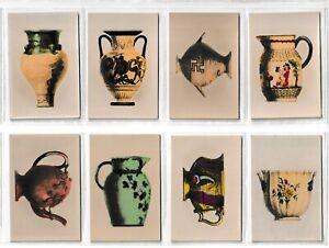 8 Millhoff De Reszke Cigarette Cards Antique Pottery 1927 3 16 18 29 33 36 51 53