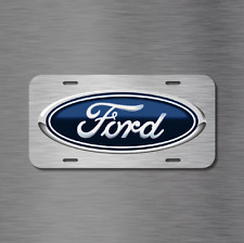 Ford Vehicle License Plate Front Auto Tag BRUSHED NEW explorer f150 f250 f350