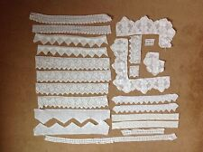 PIECES LENGTHS OFFCUTS WHITE HAND CROCHET COTTON LACE EDGING WITH DEFECTS CRAFTS