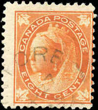 1897 Used Canada 8c F Scott #72 Queen Victoria Maple Leaf Stamp