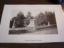 SCENES IN DUNMORE CEMETERY - DUNMORE PA  - 9.25  BY 6.25 INCHES- 1894 PRINT