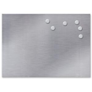 Magnettafel 35x50 cm Memoboard Magnetboard Magnetwand Magnet Pinnwand Edelstahl