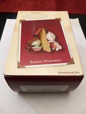 "Hallmark Keepsake Ornament ""Baking Memories� 2002 - Cats Making Cookies"