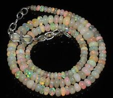 "61 Ctw 1Necklace 2to6.5mm17""Beads Natural Genuine Ethiopian Welo Fire Opal RR558"