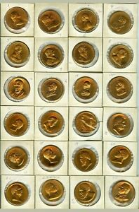 Scarce Rare 2015 President of United States Full Set of 40 Proof Bronze Medals