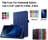 "Flip PU Leather Case Cover for Samsung Galaxy Tab A 8.0"" (2017) T380/T385"