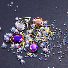 3D Nail Art Rhinestone Colorful Caviar Beads Pearl Multi-size Sharp Bottom Studs