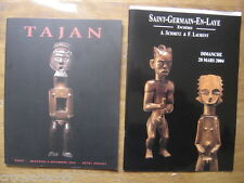 2003 /4 Catalogues vente encheres ARTS PRIMITIFS ethnic object TAJAN SCHMITZ