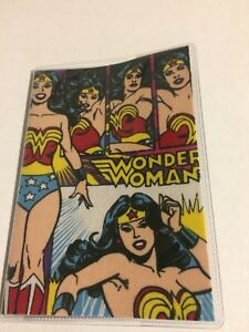 Wonder Woman Passport Cover Comic Fabric & Vinyl Custom Made Travel Accessory