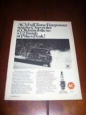 1967 CHEVROLET IMPALA SUPER SPORT PIKES PEAK AC SPARK PLUGS ***ORIGINAL AD***