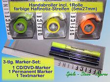 Notes Dispensers 3er Marker Set Cddvd Marker Highlighter Permanent Marker