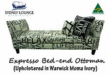 AUSTRALIAN MADE Expresso Bed End Ottoman (Warwick Moma) Sofa Couch Lounge