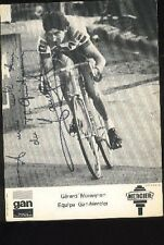 GERARD MONEYRON cyclisme Signée GAN MERCIER 70s autographe cycling ciclismo TDF