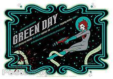 Tara McPherson Green Day Silkscreen Concert Poster 2005 White Mint Rocket Girl