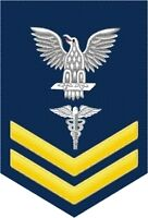 "Hospital Corpsman ( HM ) 2nd Class E-5 Yellow Rank 5.5"" Sticker / Decal"