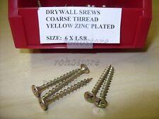 drywall screw 6 x 1-5/8 Yellow Coarse 25 lbs 5370 pc Free Ship