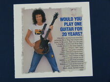 W / fait main carte de vœux avec brian may / guilde guitare, Queen