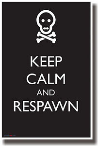 Keep Calm and Respawn - NEW Humor POSTER