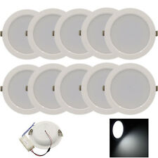 10pcs 7W Round LED Recessed Ceiling Panel Down Lights Bulb Lamp For Indoor Home
