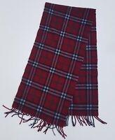 Sciarpa Burberrys london stola scarf scialle 100% cashmere originale rosso red