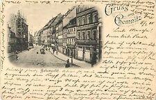 Bolzmarkt, Gruss Aus Chemnitz, Germany 1900