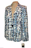 New Blazer, Kim Rogers, White-Blue-Black Business Washable MSRP-$65.00  8