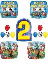 13 pc PAW PATROL Chase MARSHALL 2ND Birthday Balloons Set SECOND FREE SHIPPING
