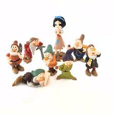 8 pcs Disney Princess Cartoon Movie  Snow White and the 7 Dwarfs Cake Topper NB